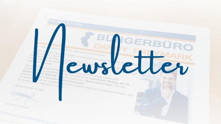 Newsletter Januar: Neues aus unserem Bürgerbüro